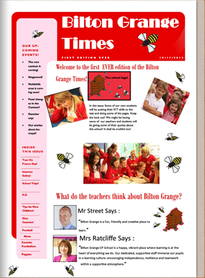 The Bilton Times Magazine Cover